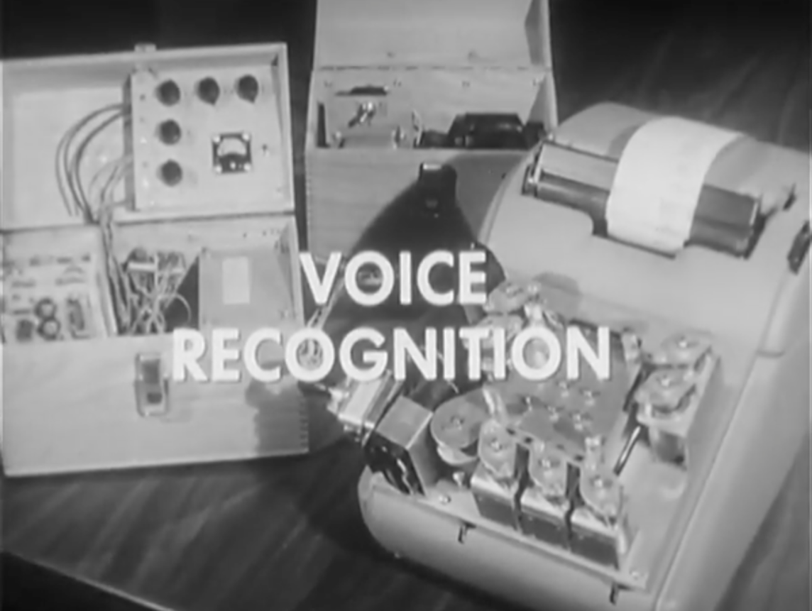 Still image from IBM Archival Footage of the Shoebox System 1961)