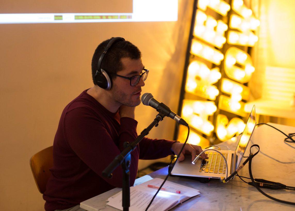 Wordweaving, performance at Bartalk: Coded Gestures